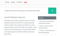 YouTube vers MP3