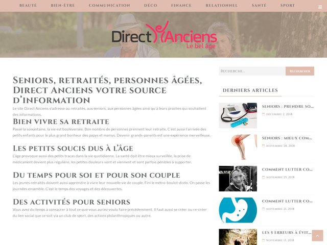 Direct Anciens, le site des seniors