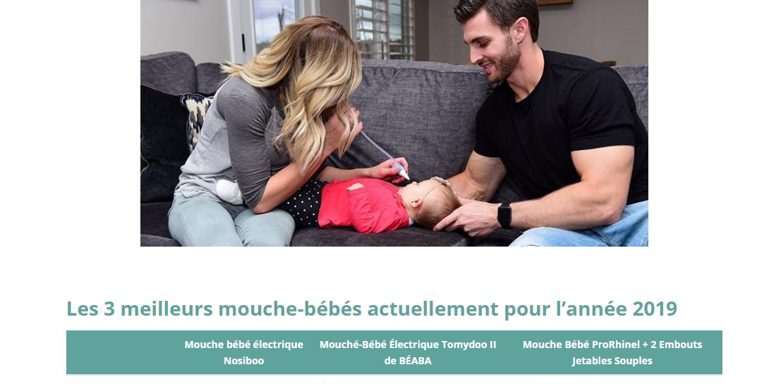 Un vrai guide pour l'entretien du nez de bébé