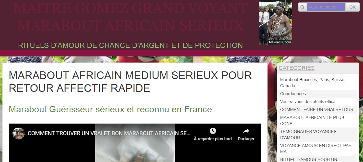 Grand marabout et voyant africain