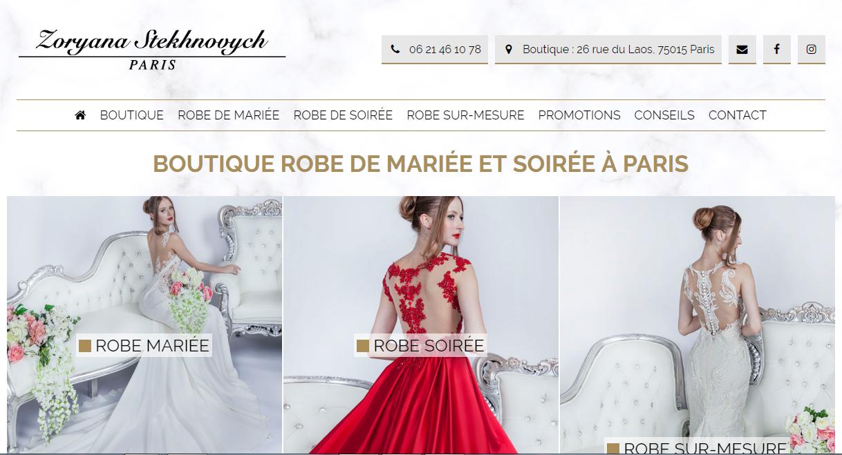 Robe de mariée pas cher à paris