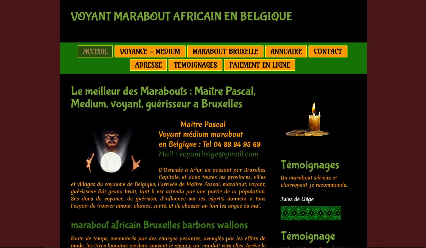 Marabout africain à votre service en Belgique