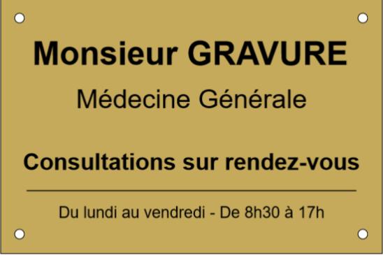 Monsieur Gravure : votre confectionneur de plaques professionnelles