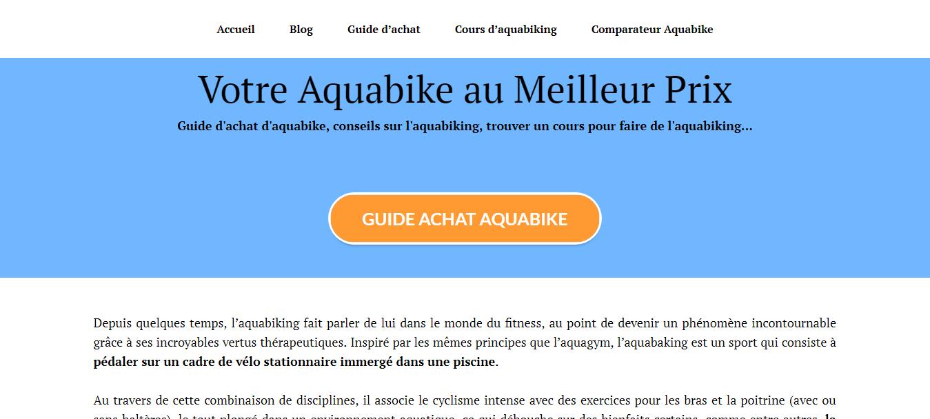 Vélo Aquabike : guide d'achat et comparatifs de prix