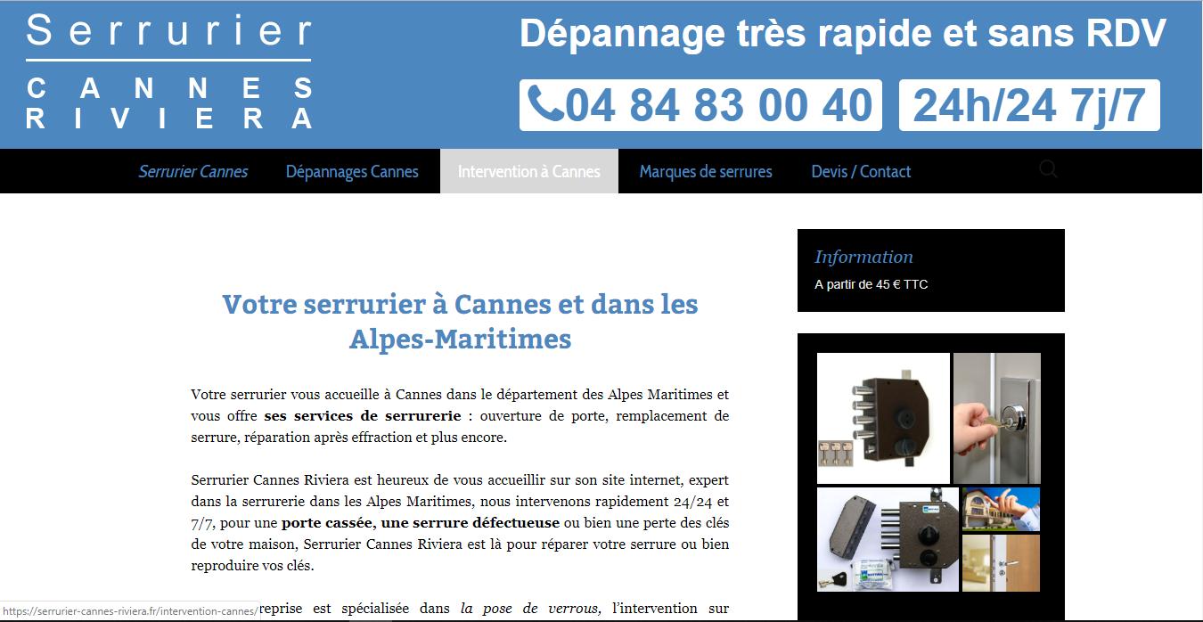 Serrurier Cannes Riviera