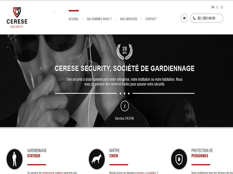 Cerese Security, entreprise professionnelle de gardiennage et de sécurité