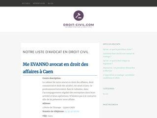 Blog et annuaire d'avocats en droit civil