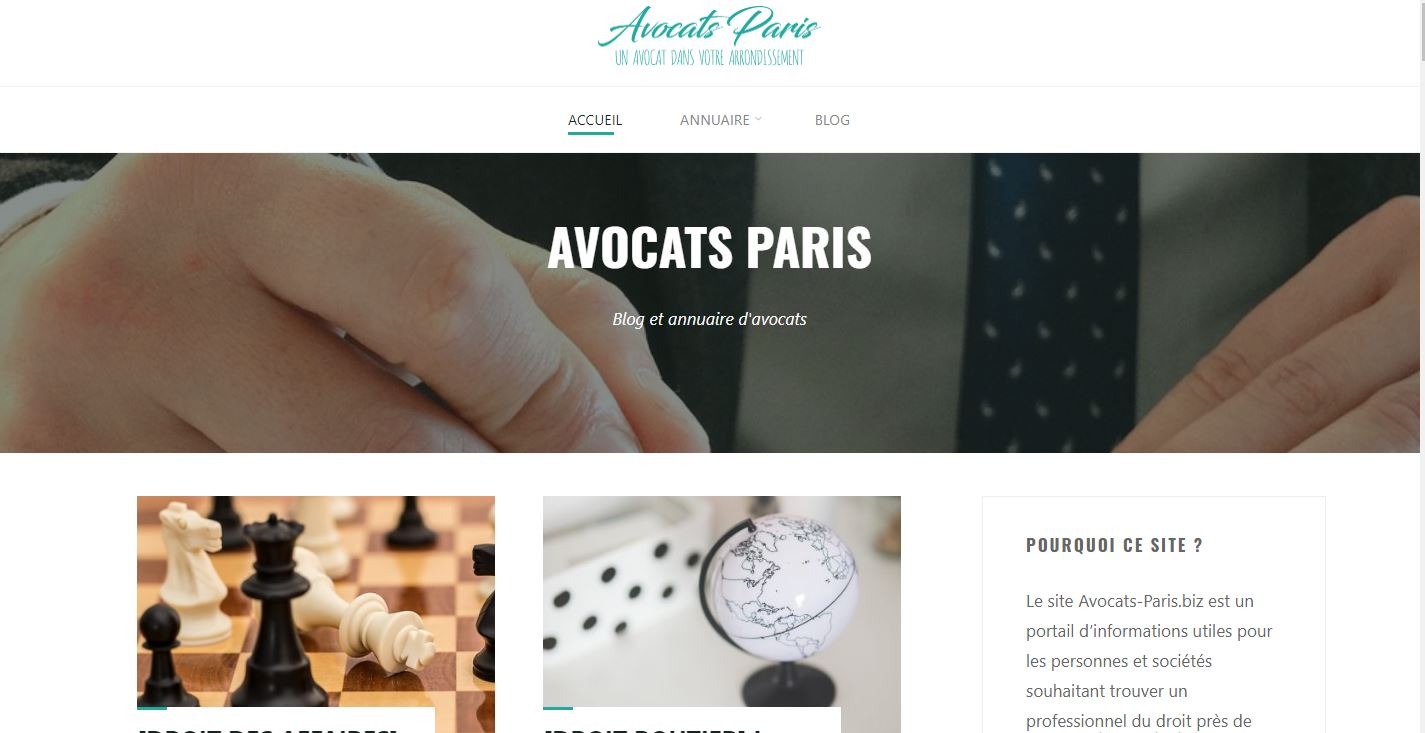 Blog et annuaire d'avocats à Paris