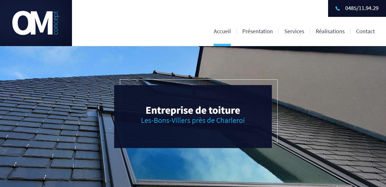 OM Concept, entreprise de toiture à Charleroi
