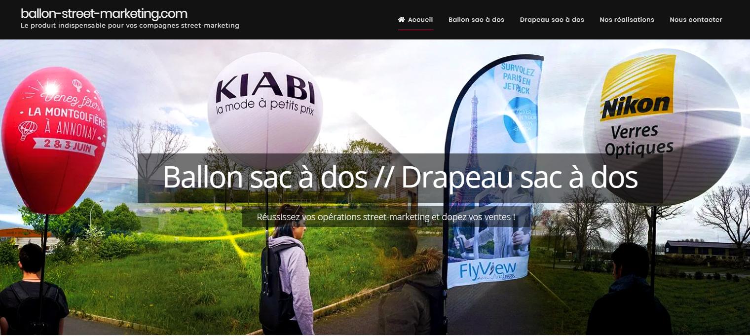 Ballon street-marketing pour une campagne de rue réussie