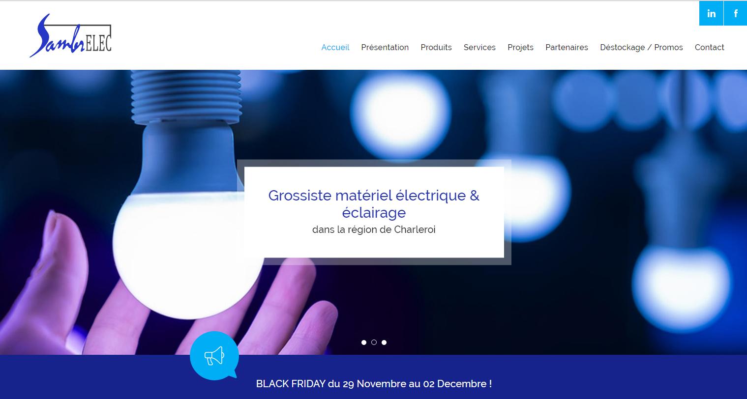 Sambrelec : société de vente des matériels électriques et d'éclairage