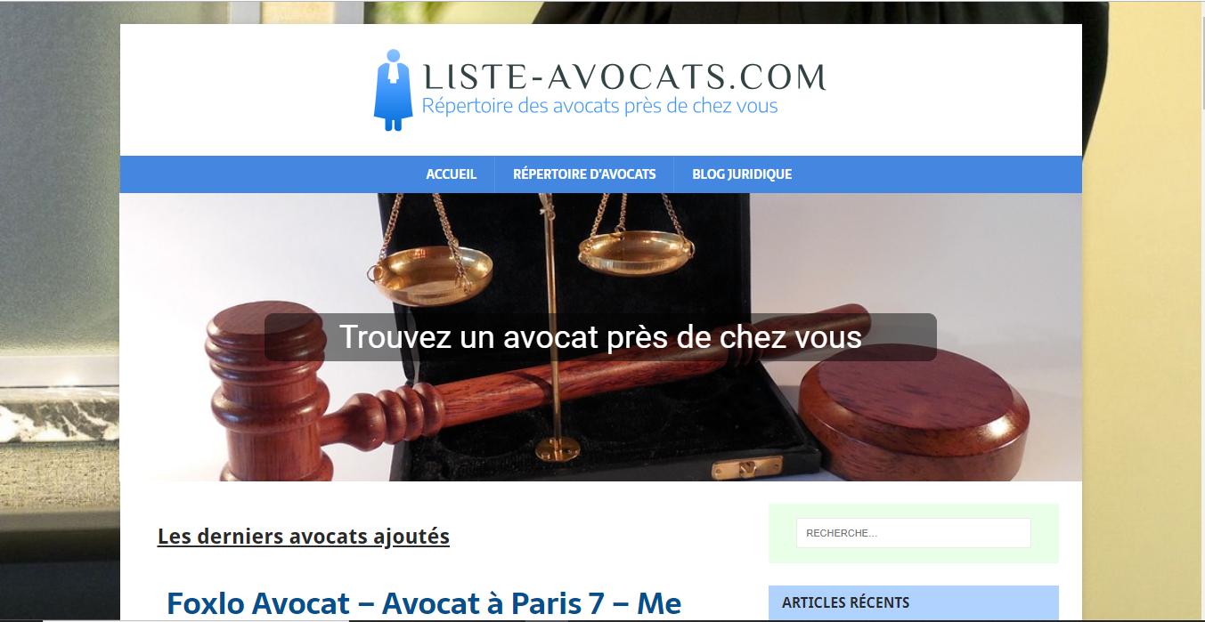 Liste Avocats : Portail et annuaire juridique