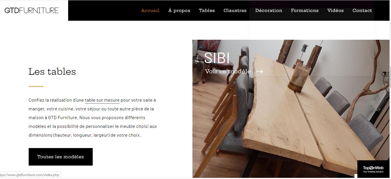 Fabricant de meubles de type industriel à Charleroi
