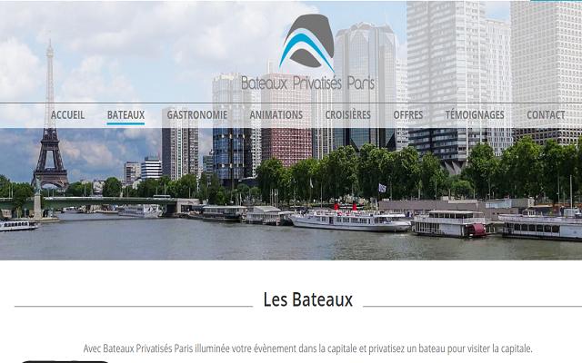 Service de privatisation de bateaux à Paris