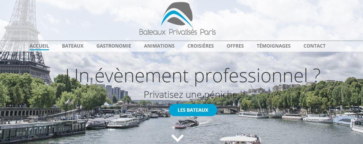 Location de bateaux et organisation d'événements à Paris
