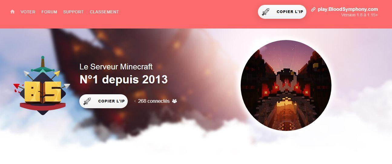 BloodSymphony : le serveur Minecraft numéro 1 en France